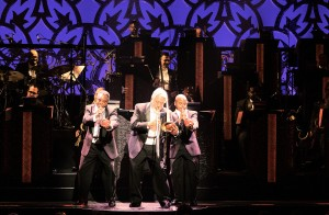 """Three horns fronting the """"After Midnight"""" band"""