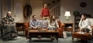"From left, Peter Friedman, Danny McCarthy, Michael Countryman, Hannah Bos, Carolyn McCormick in ""The Open House"""
