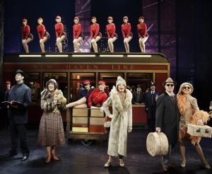 """Bullets Over Broadway"" principals and ensemble (Photo: Paul Kolnik)"