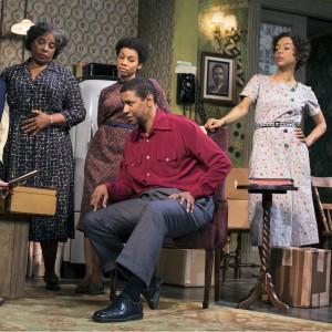 Denzel Washington and, from left, Latanya Richardson Jackson, Anika Noni Rose and Sophie Okonedo (Photo: Brigitte Lacombe)