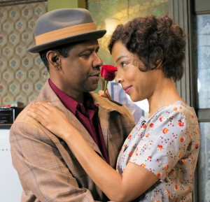 "Denzel Washington and Sophie Okonedo as husband and wife (""Raisin"" photos: Brigitte Lacomb)"