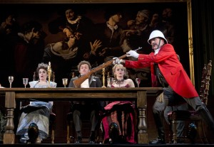 """Jefferson Mays, at right, in """"A Gentleman's Guide to Love and Murder,"""" predicted Best Musical Tony winner."""