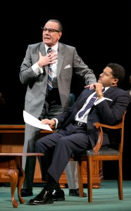 """Bryan Cranston as LBJ and Brandon J. Dirden as Martin Luther King, Jr. in """"All the Way"""""""