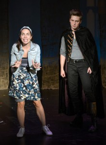 Roz/Rosaline (Justine Magnusson) not Romeo's (Josh Tolin) choice (Photo: Russell Rowland)