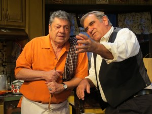 "Ricard Zavaglia, left, and Dan Lauria in ""Dinner with the Boys"" (Photo: SuzAnne Barabas)"