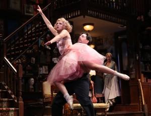 Essie (Annaleigh Ashford) and her ballet master (Reg Rogers)