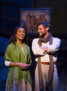 Oliver Thornton and Britney Coleman as Arthur and Guenevere (Photos: T. Charles Erickson)