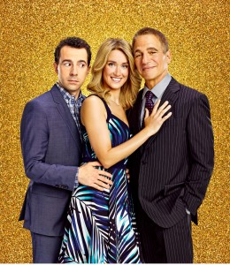 Rob McClure, left, Brynn O'Malley and Tony Danza