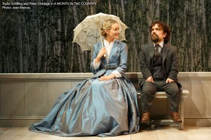 Taylor Schilling and Peter Dinklage