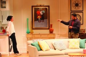 Judith (Merritt Janson), Zeke (Brandon J. Dirden and a significant picture in Judith's living room