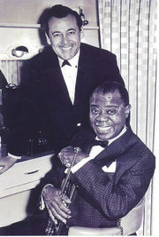 Marty Napoleon and Louis Armstrong, circa 1956