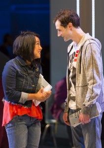"Jeremy (Will Connolly) and his main crush Christine (Stephanie Hsu) in ""Be More Chill"""