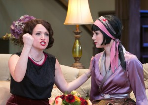 Roxanna Hope, left, and Samantha Bruce as Julie and Gwen Cavendish