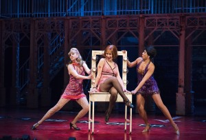 From left, Melanie Phillipson, Julie Martell as Charity Valentine and Kimberley Rampersad.