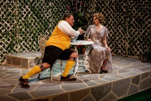 Malvolio (Michael Kroll) goes a-courtin' all dressed up!