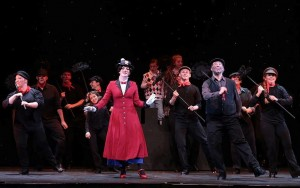Mary Poppins (Katherine Le Fevre) and Bert (Bobby Davis), foreground, with the Chimneysweeps (Photos: Rich Kowalski)