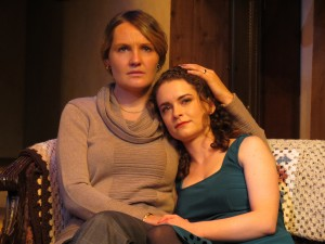 "Mother (Gina Costigan) and daughter (Cathryn Wake) in ""The Seedbed"""