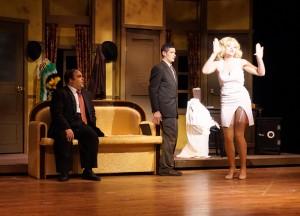 Max (Roman Sohor), left, and Leo (Dan Peterson) and Ulla (Kate Pentek), flaunting it
