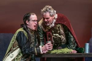 "Master Ford as ""Brook"" (Matt Sullivan) is aghast at Falstaff's revelations"
