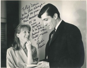Photo: Backstage at ANTA (now August Wilson) Theatre in 1964. Inscription: Backstage at Victoria Theatre, Newark, NJ on April 14, 2001. (Photo: Paul Barry)