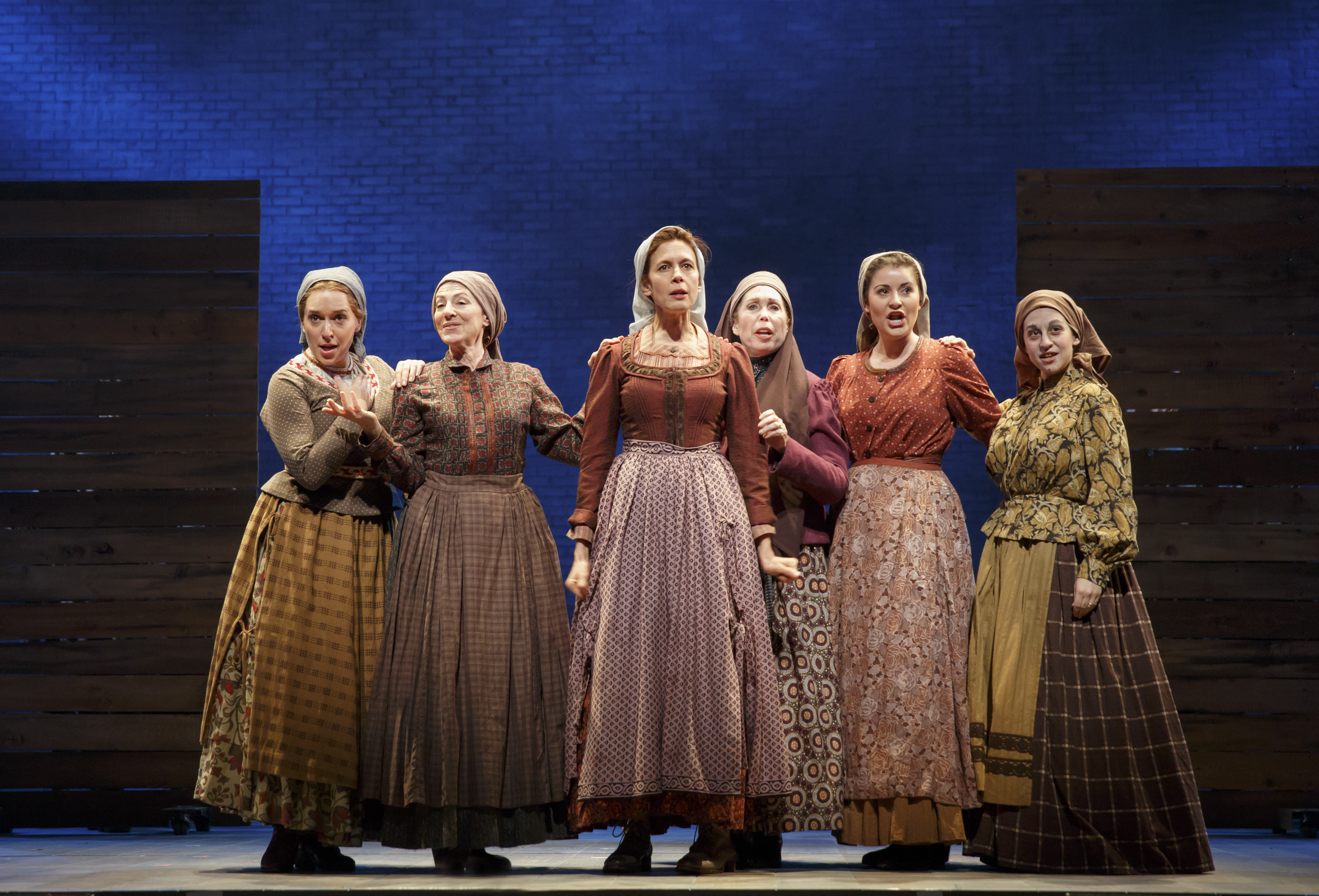 Jessica Hecht As Golde, Center, With The Wives Of Anatevka