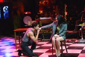 Lysimachus (Philippe Bowgen) proposes to Marina (Nikki Massoud)