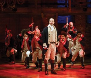 "Lin-Manuel Rivera front and center in ""Hamilton"""