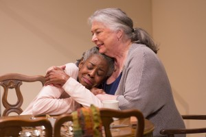 Mama (Barbara Andres) comforts eight-year old Dagmar (Marjorie Johnson)