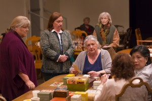 "From left: Heather Mac Rae, Dale Soules, Barbara Andres (seated), Susan Lehman, Mia Katigbak, Louise Sorel in ""I Remember Mama"""