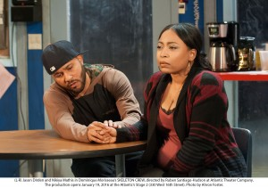 "Two-time Two River Theater actor Jason Dirden with Nikiya Mathis in ""Skeleton Crew"" directed by Ruben Santiago-Hudson"