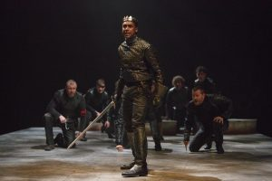Henry V (Araya Mengasha) leading his troops into battle