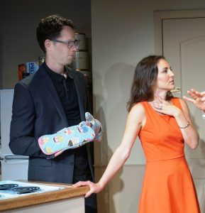 "Adam Bradley and Susan Maris confront some strange goings-on in ""Struck"" (Photo: SuzAnne Barabas)"