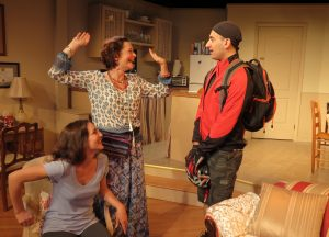 "Susan Maris, left, Jenny Bacon and Benjamin Puvalowski in ""Struck"""