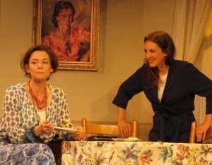 "Vicki (Jenny Bacon) and Vera (Susan Maris)...and a portrait of Vera's Granny, who's the absent sixth character in ""Struck"""