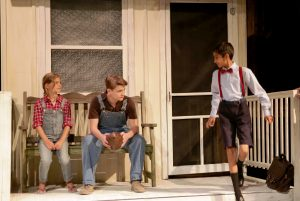 "From left: Ceci Lihn, Will Ehren and Aman Tolia in ""To Kill a Mockingbird"""