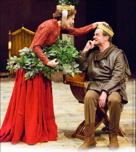 King Henry (Michael Cumpsty) to Queen Eleanor (Dee Hoty): Well - what shall we hang? The holly or each other?