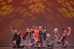 Mikayla Petrilla and the tap-dance ensemble